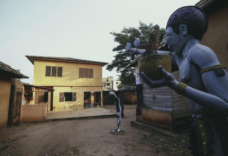Statue in King Toffa's Palace, Porto-Novo
