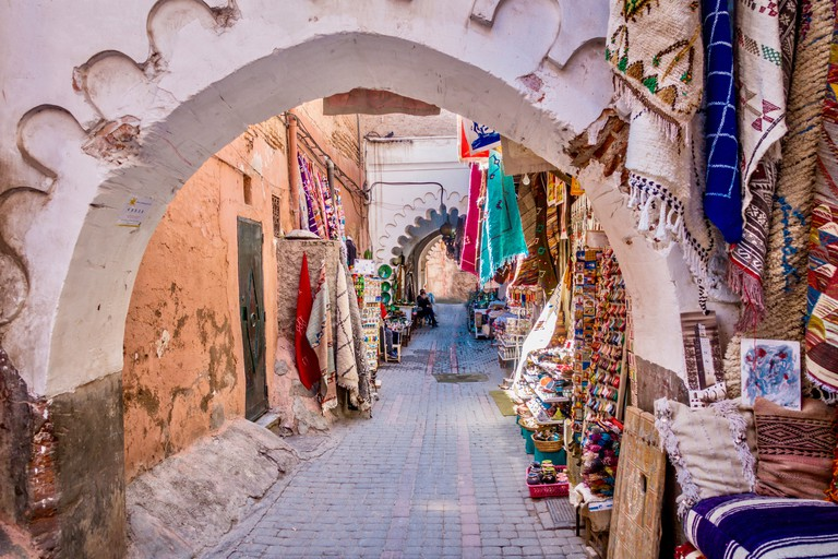 Walking though the souks in Marrakech's medina