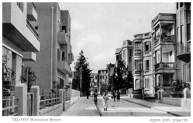Tel Aviv. Bauhaus style apartment blocks