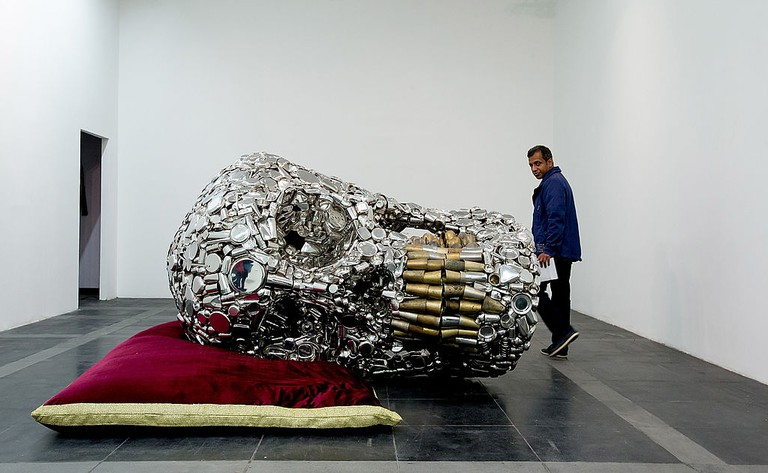 Indian Artist Subodh Gupta At The Private View Of His First Major Museum Show In Delhi - 'Everything Is Inside'