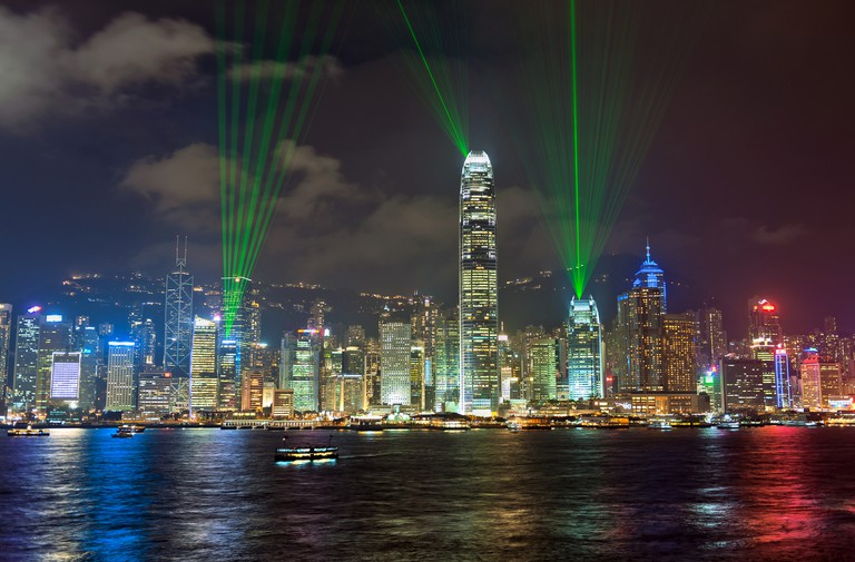 Symphony of Lights, Hong Kong Island Skyline, Night