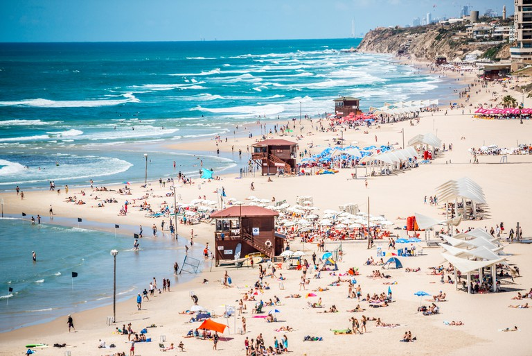 Herzliya Beach, Tel Aviv,Israel