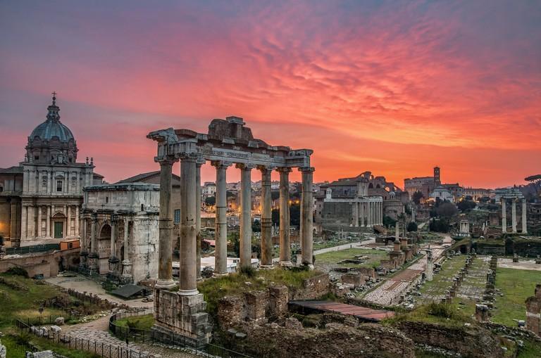 Forum Romanum at sunrise