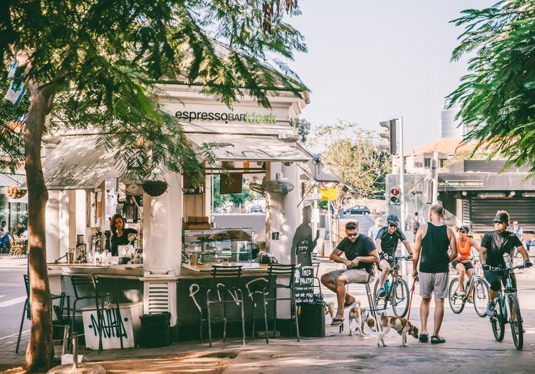Morning Cafe in Tel Aviv