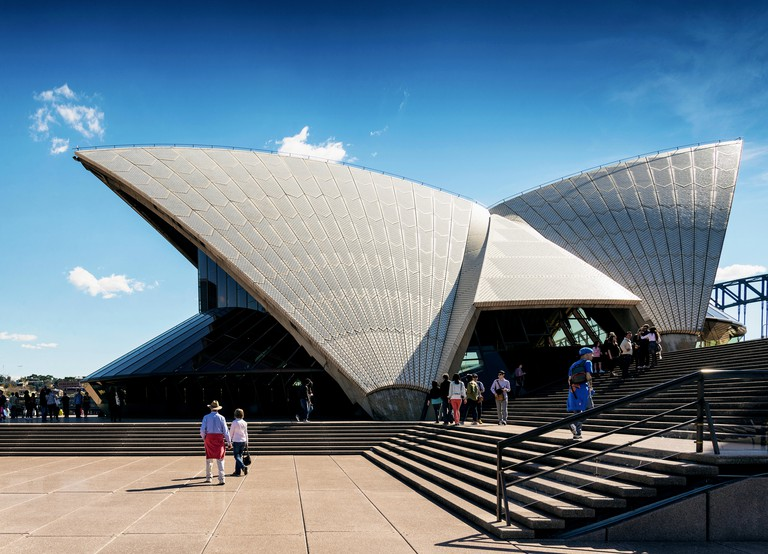 Tourists visiting Sydney Opera House