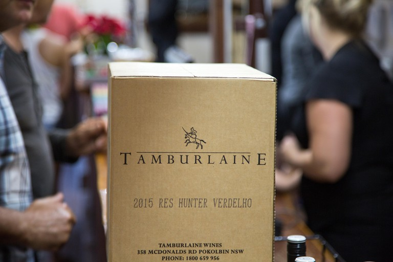 A box of wine from the Tamburlaine winery