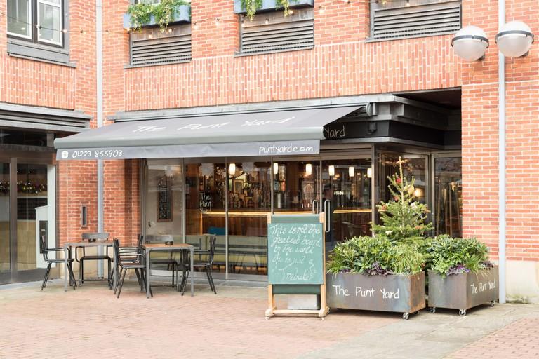 The Punt Yard restaurant Quayside Cambridge UK
