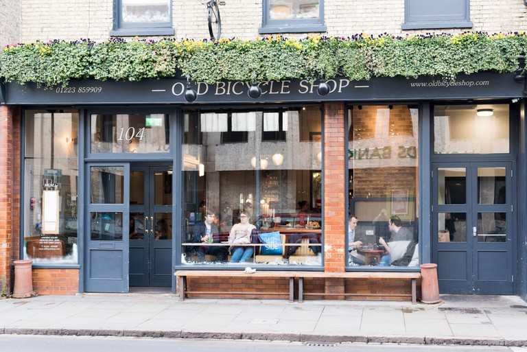 The Old Bicycle Shop restaurant and cafe Regent Street Cambridge UK