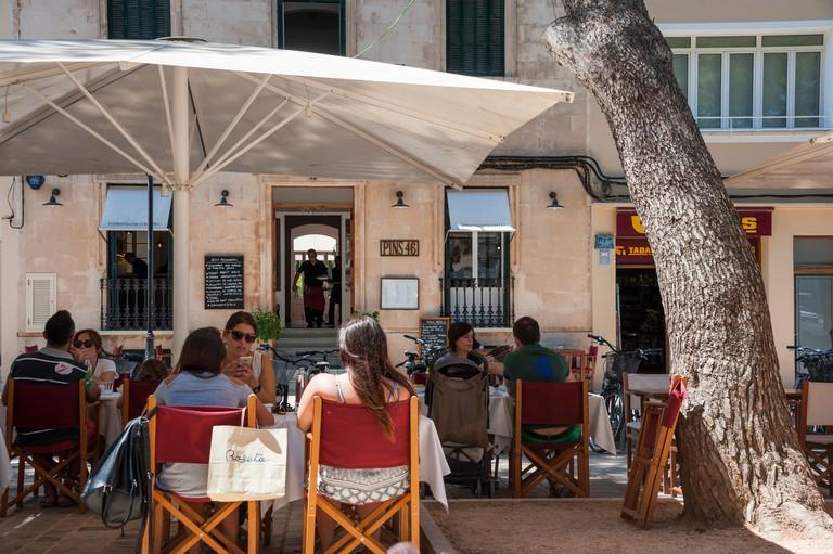 Pins 46 restaurant, old town, Ciutadella de Menorca, Spain.
