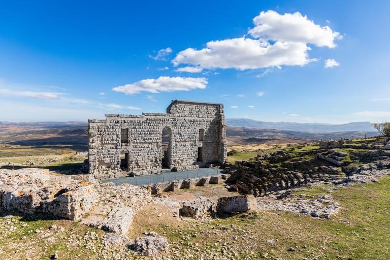 The Roman theatre of Acinipo, Andalusia.