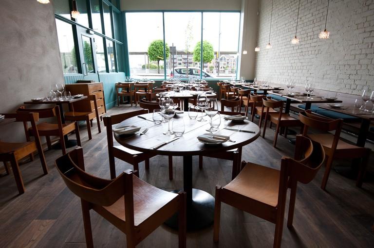The interior of Ox restaurant