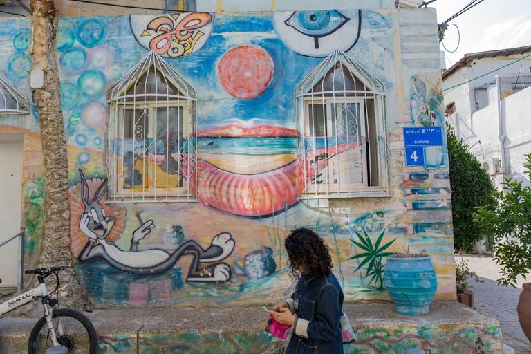 Yemeni district Kerem Hateimanim, murals