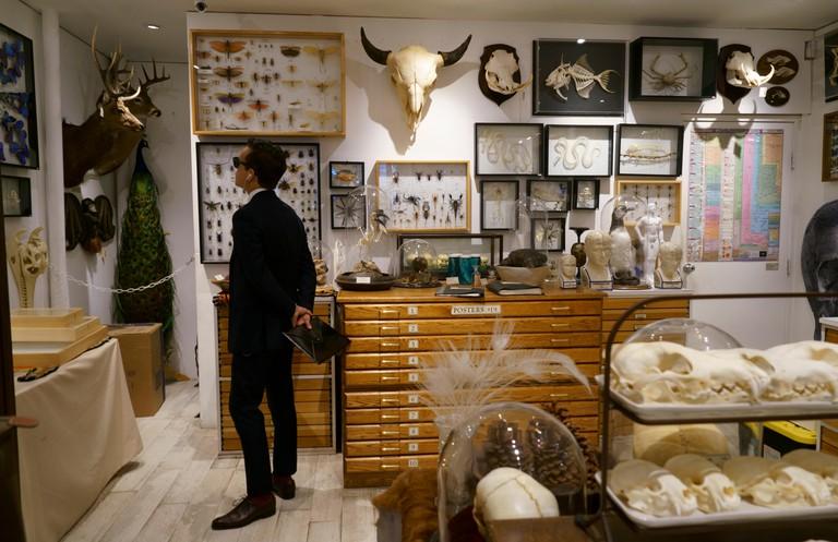 Customers inside of the Evolution Store in Soho.Lower Manhattan.New York City.NY.USA