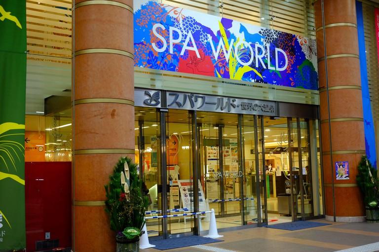Spa world onsen in Osaka city