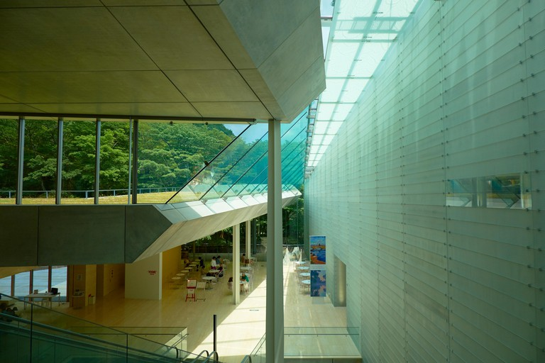 The main atrium at the Pola Museum of Art in Hakone, Japan.