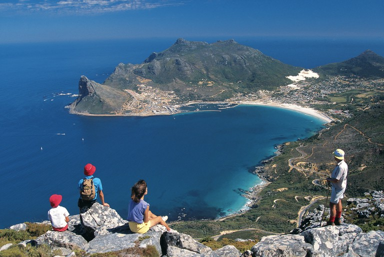 View over Hout Bay harbour