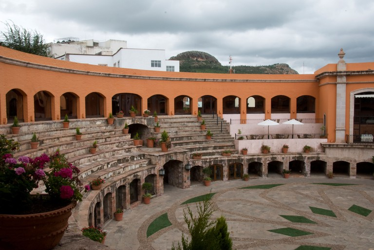 The Quinta Real Zacatecas is a Spanish-colonial-style hotel