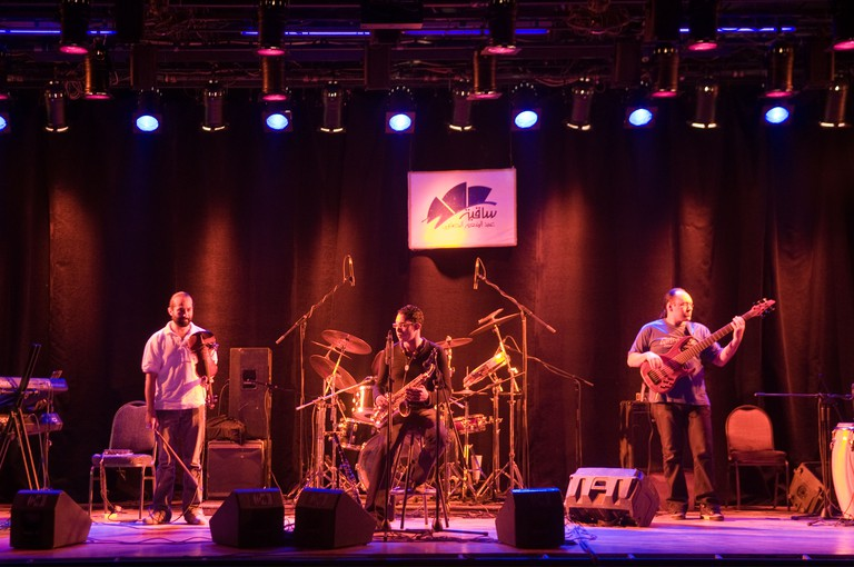 Egyptian music band playing Jazz in El Sawy Culture Wheel