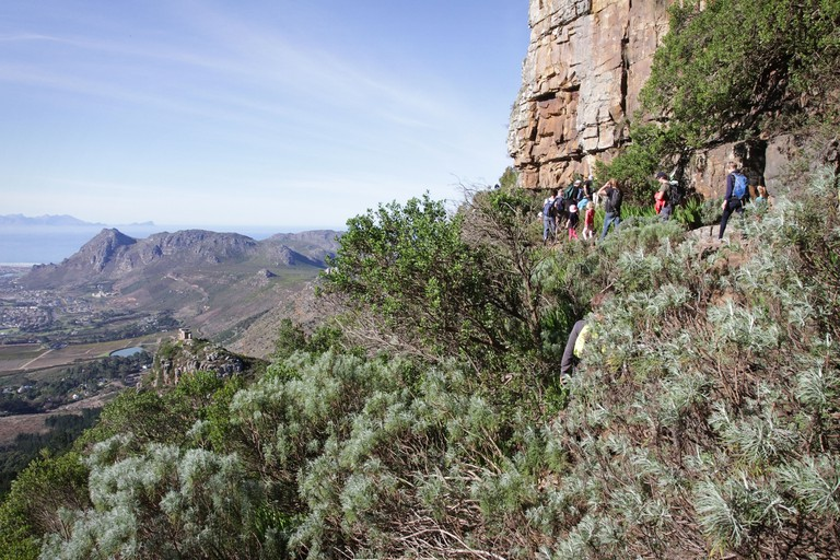Walk up to Elephant's Eye Cave on the Tokai side of Silvermine Nature Reserve