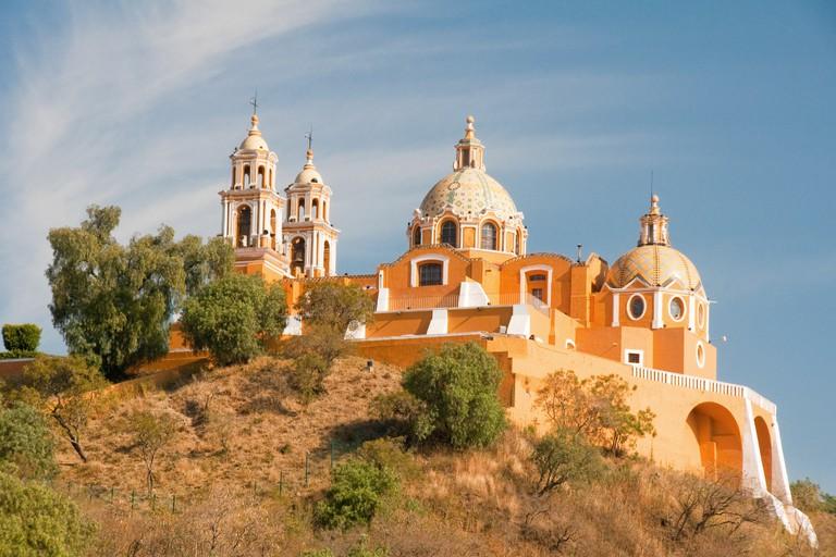 Santuario de los remedios, Cholula in Puebla (Mexico)