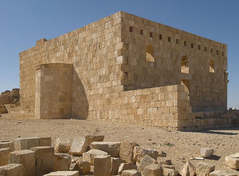"""Castle of al-Hallabat (Qasr al-Hallabat), 4th Century A.D., fortified stone building"""