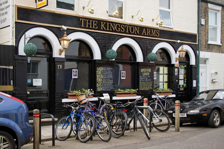 The Kingston Arms public house in Cambridge, UK
