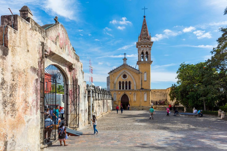 Stock Photo - Tercera Orden church (1736), Cuernavaca, state Morelos, Mexico