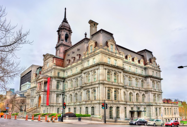 View of Montreal City Hall in Canada