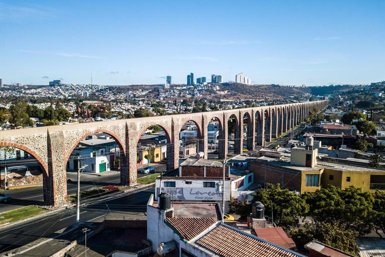 Los Arcos, aquaduct in Queretaro, Mexico