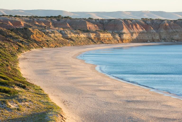 Sunset at Maslin Beach near Adelaide, South Australia.  Maslin's is Australia's first official nude beach.