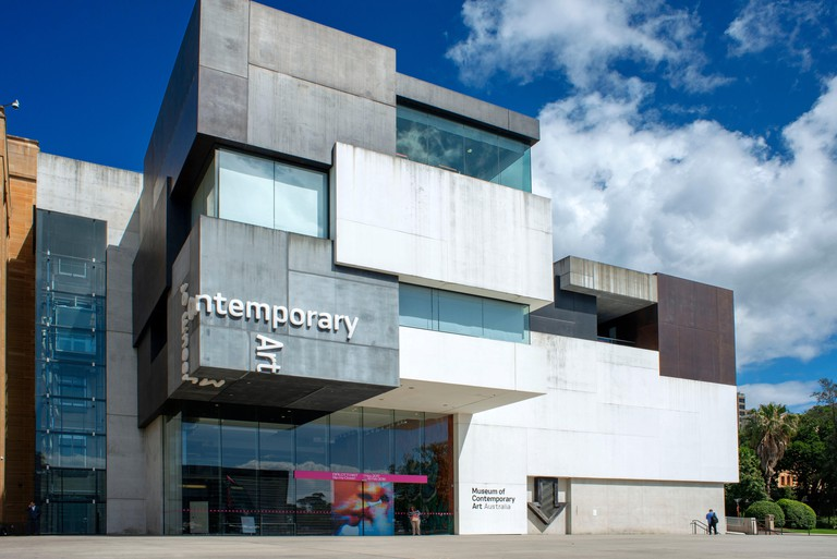 Facade and Outside of Museum of Contemporary Art Sydney Australia