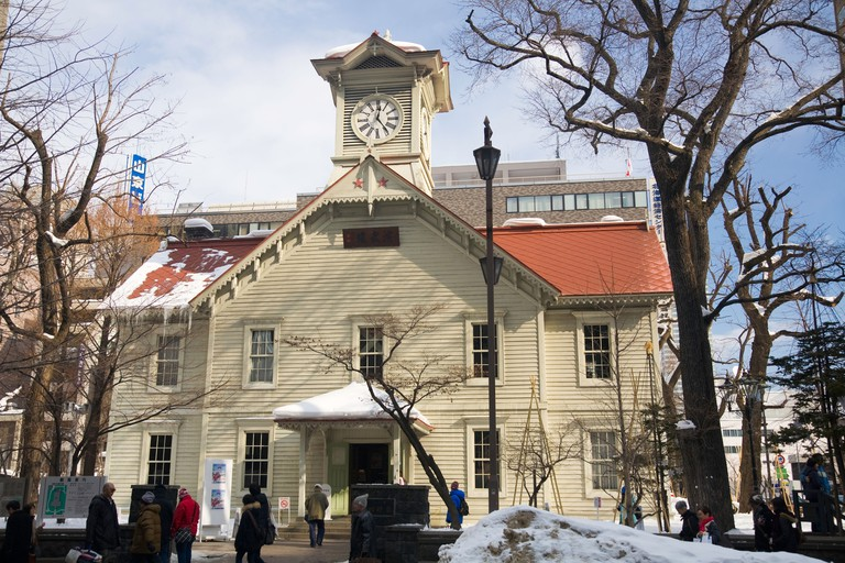 The Clock Tower in downtown Sapporo
