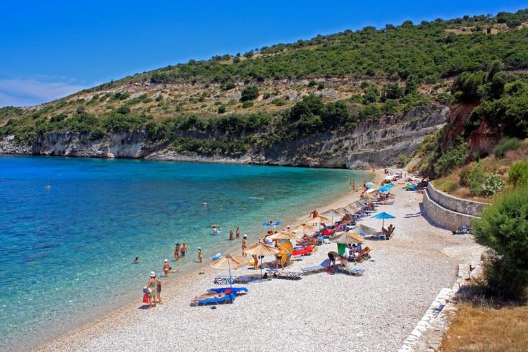 Makris Gialos Beach Zante Zakynthos Ionian Island Greece EU European Union Europe