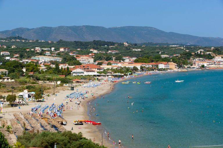 View over Tsilivi beach