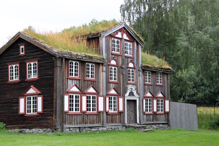 Aspaas House, Roros Buildings, Sverresborg Trondelag Folkemuseum, Trondheim, Sor-Trondelag, Norway, Scandinavia, Europe