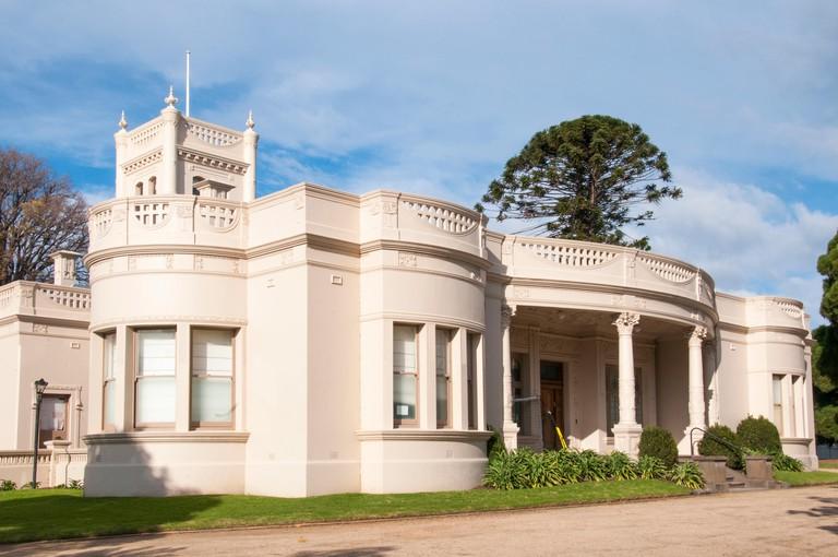 Billilla historic mansion in Halifax St, Brighton, Melbourne.