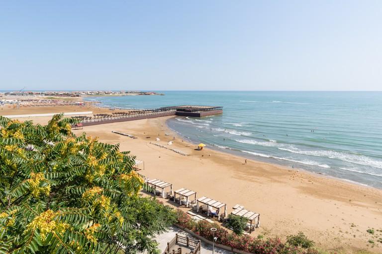 Bilgah beach on Caspian sea