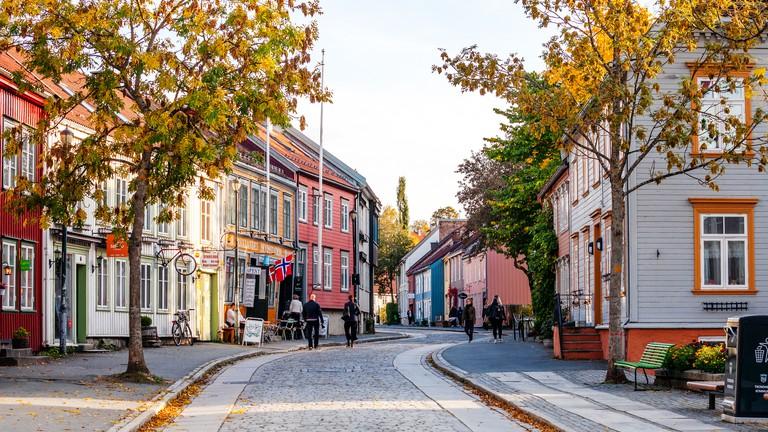 Bakklandet district - Trondheim, Norway
