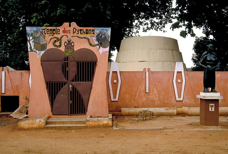 The sacred Temple of Pythons devoted to the Voodoo religion in Ouidah, Benin