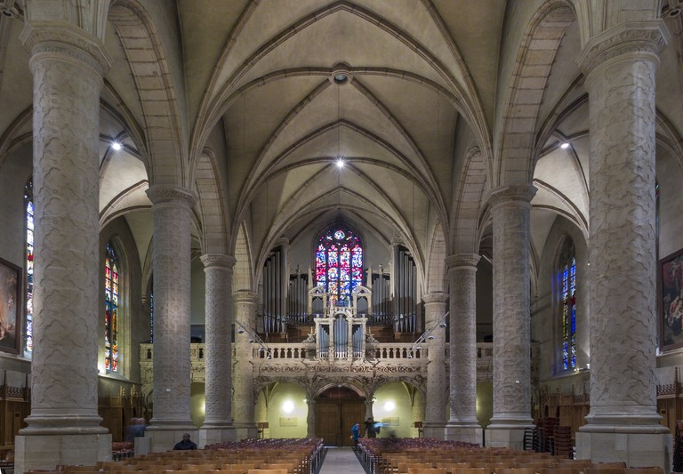 Notre Dame Cathedral interior Luxembourg city
