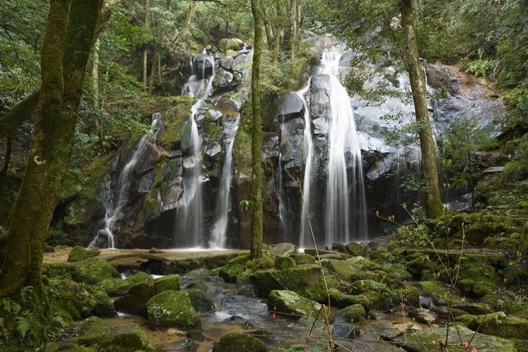 Kanabiki-no-taki Falls in Kyoto Prefecture, Japan.