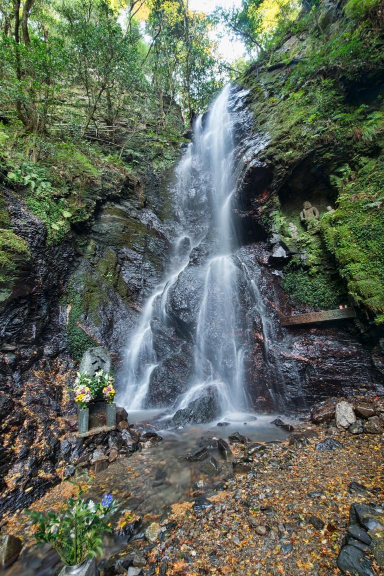 The hidden Kuyanotaki waterfall, Kyoto Prefecture, Japan.