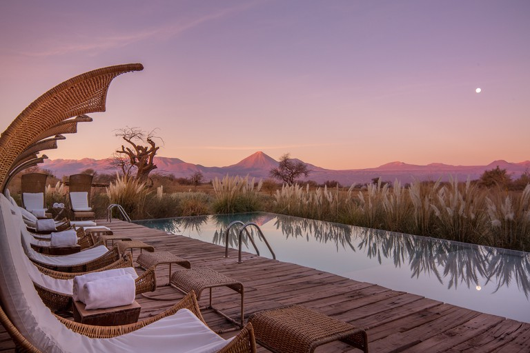Tierra Atacama_pool view dusk_James Florio 2