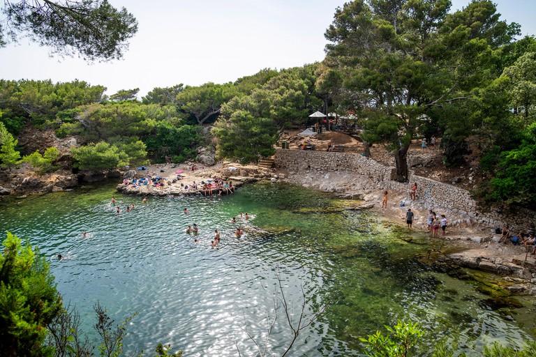 Mrtvo More or Dead Sea bathing place on Lokrum Island, Dubrovnik, Croatia