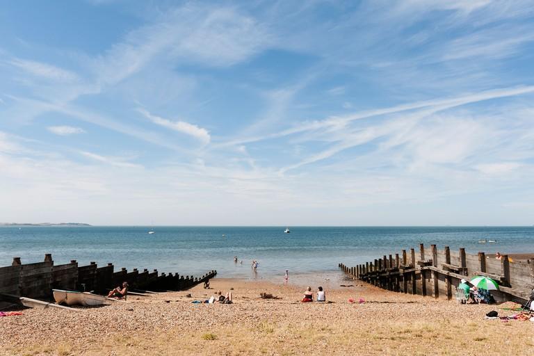 Whitstable in Kent beach, England, UK
