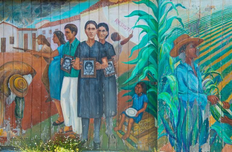 Murals in Mission District neighborhood in San Francisco