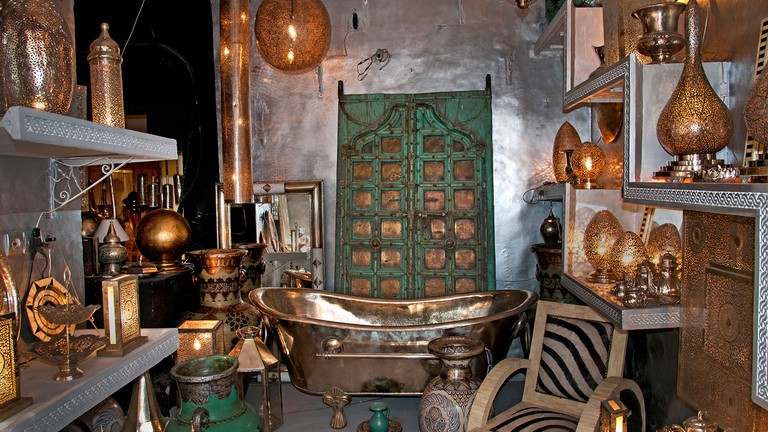 Antique Shop Marrakesh Morocco Medina Souk Market