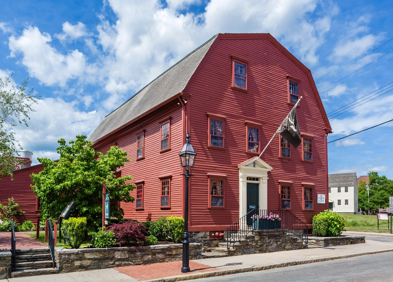 The 17thC White Horse Tavern, one of the oldest tavern buildings in the US, Newport, Rhode Island, USA