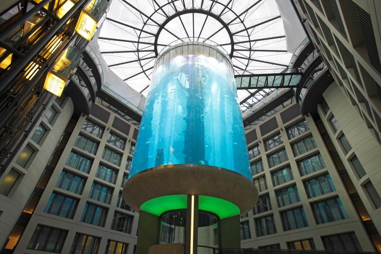 The AquaDom at Radisson Blu Hotel, Berlin, Germany