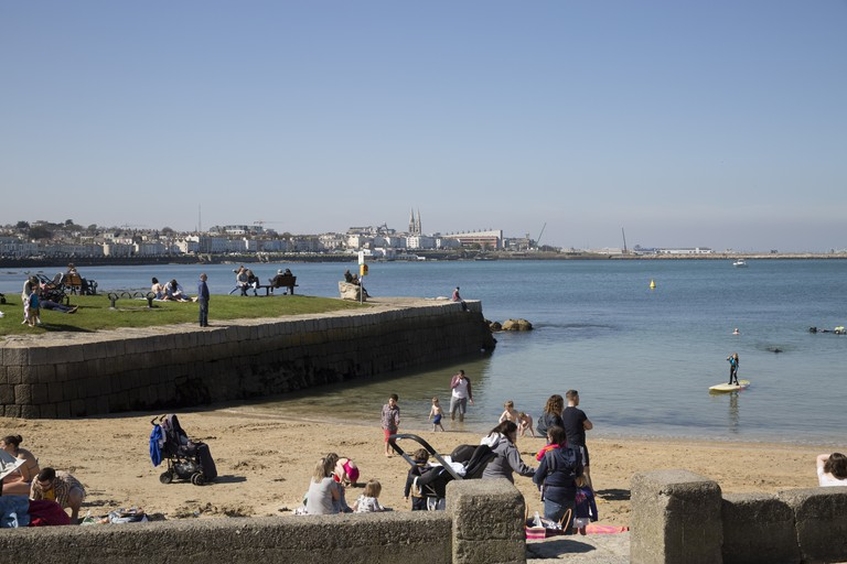 Sandycove Beach In Dublin